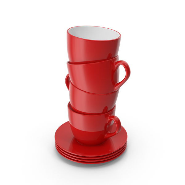Stack of Coffee Cups PNG & PSD Images
