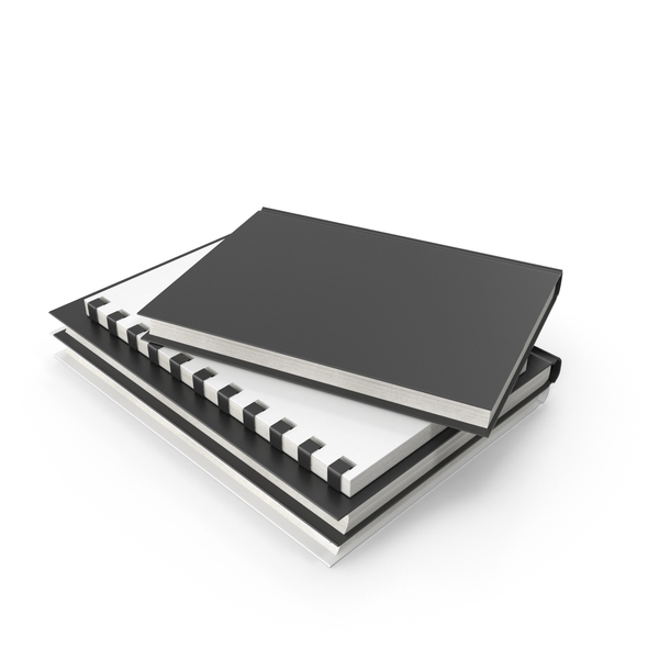 Notebook: Stack Of Journals And Books PNG & PSD Images