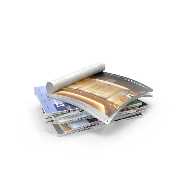 Magazine: Stack Of Magazines PNG & PSD Images