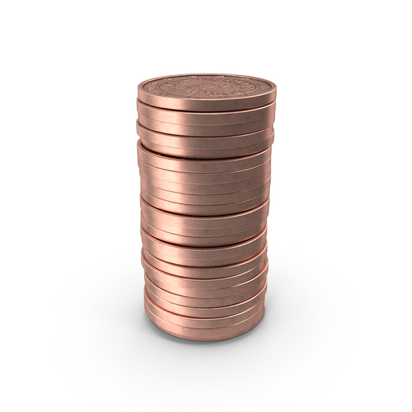 Stack of One Euro Cent Coin PNG & PSD Images