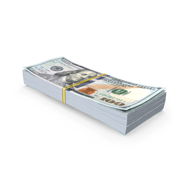 Stack of One Hundred Dollar Bills PNG & PSD Images