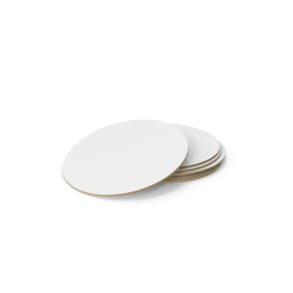Stack Of Paper Coaster PNG & PSD Images
