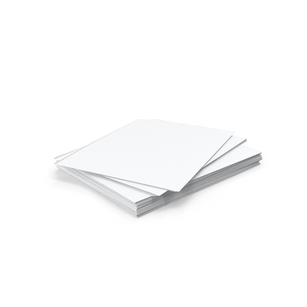 Stack of Paper Sheets Object