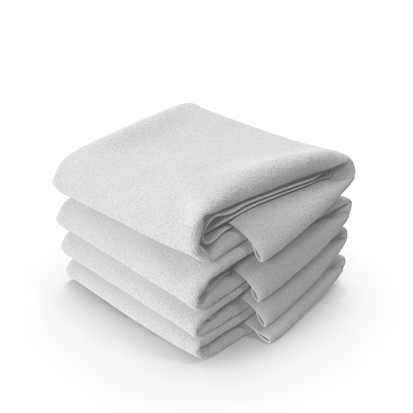 Stack of White Towels PNG & PSD Images