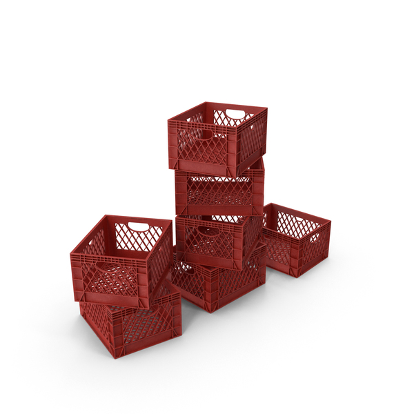 Stacked Milk Crates PNG & PSD Images