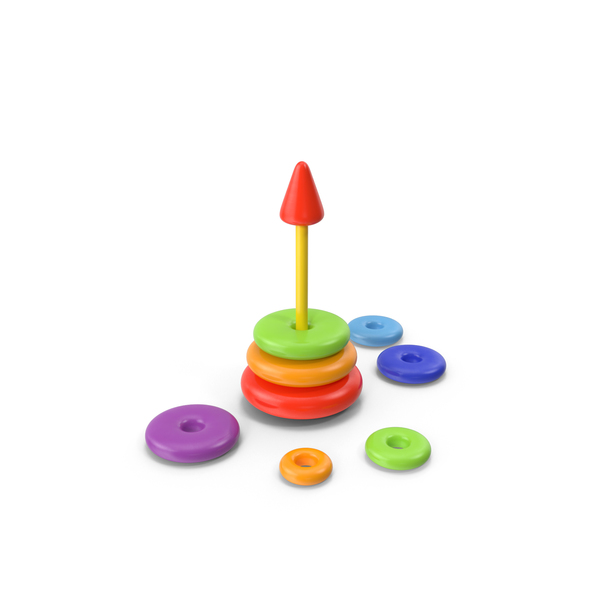 Ring Stacker: Stacking Toy Disassembled PNG & PSD Images