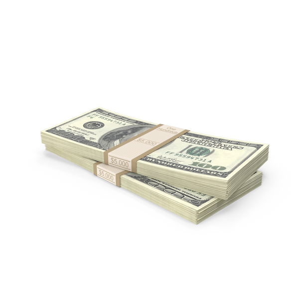 Stacks of 100 Dollar Bills PNG & PSD Images