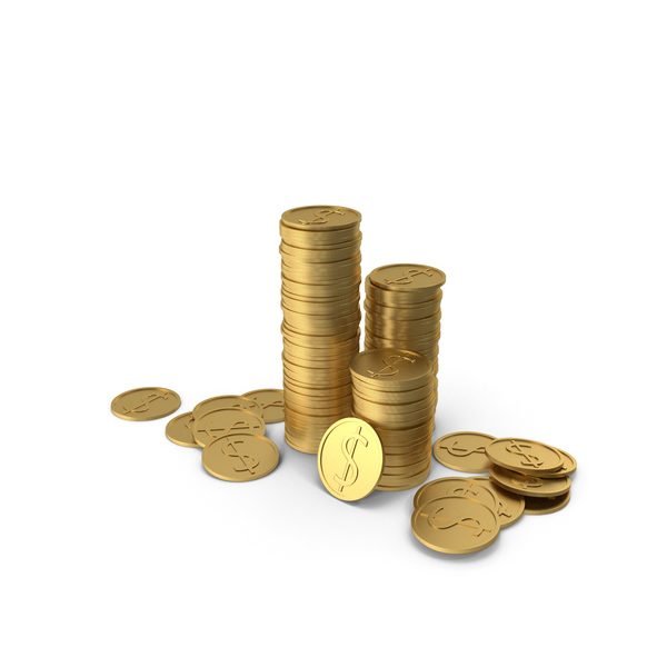Stacks of  Coins PNG & PSD Images