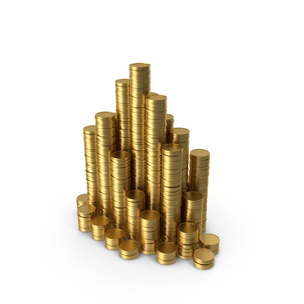 Stacks of Gold Coins PNG & PSD Images