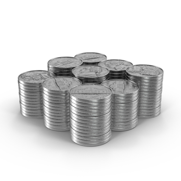 Nickel Coin: Stacks of Nickels PNG & PSD Images