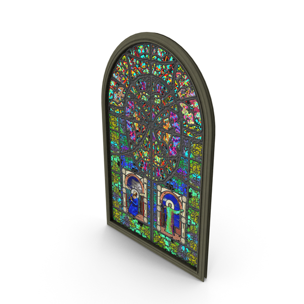 Stained Glass Church Window PNG & PSD Images