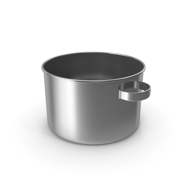 Stainless Pot No Lid PNG & PSD Images