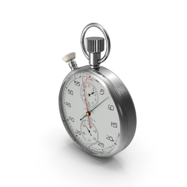 Stop Watch: Stainless Steel Analogue Pocket Stopwatch PNG & PSD Images