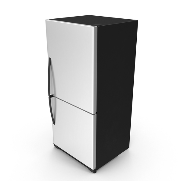 Stainless Steel Refrigerator PNG & PSD Images