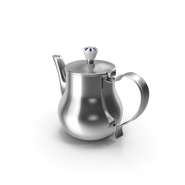 Stainless Steel Teapot PNG & PSD Images