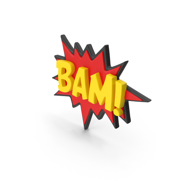 Logo: Stand Up Superhero Retro BAM Comic PNG & PSD Images