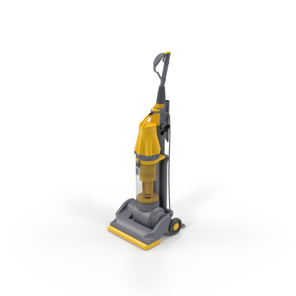 Stand Up Vacuum Cleaner Yellow PNG & PSD Images