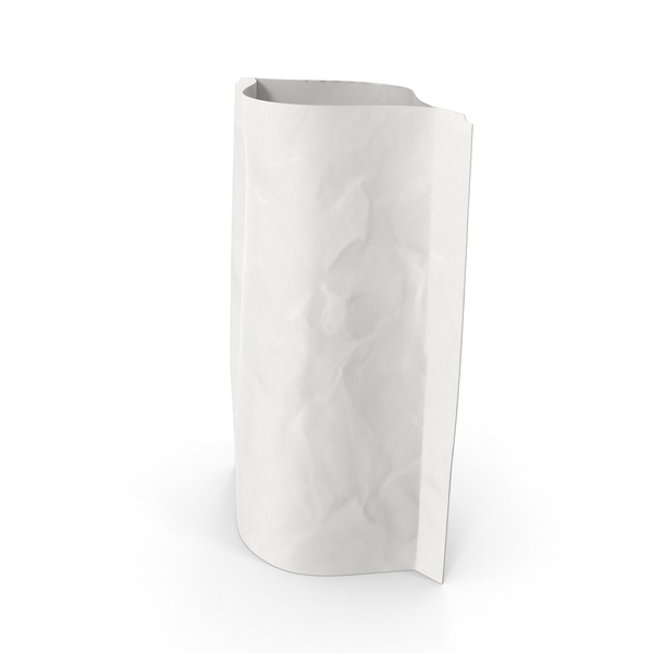 Stand Up Zipper Pouche 28g Open White PNG & PSD Images