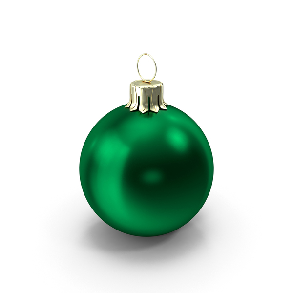 Standing Green Christmas Ornament PNG & PSD Images