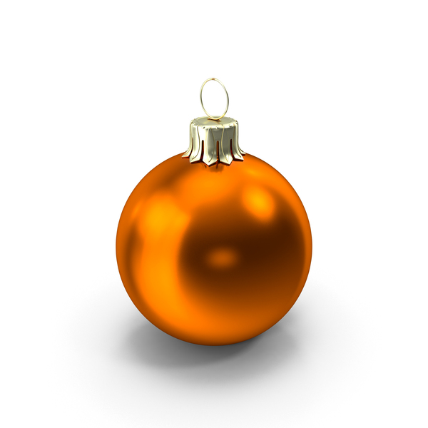 Standing Orange Christmas Ornament PNG & PSD Images