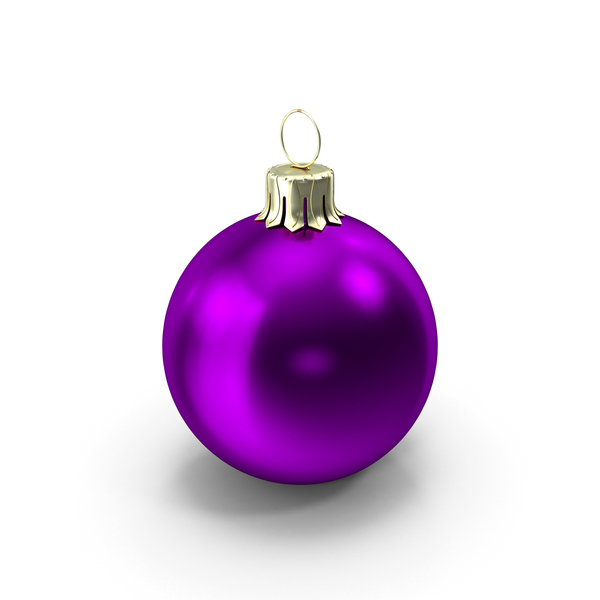 Standing Purple Christmas Ornament PNG & PSD Images
