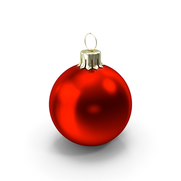 Standing Red Christmas Ornament PNG & PSD Images