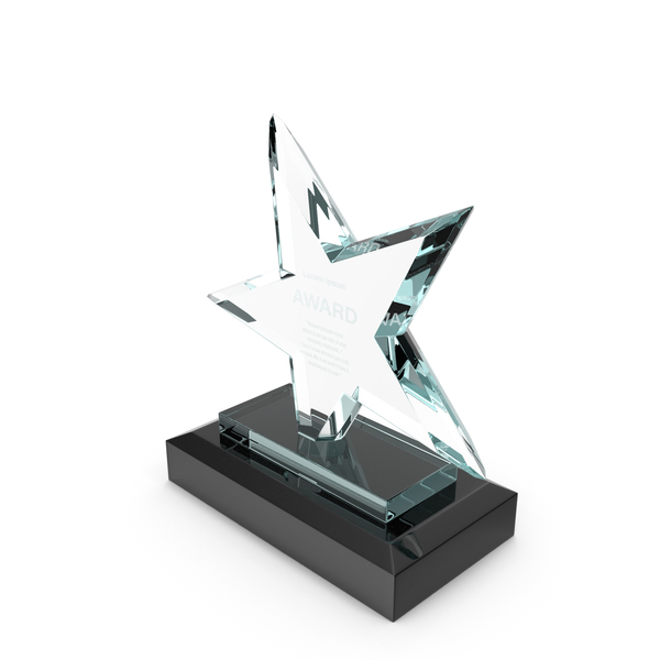 Star Glass Award Trophy PNG & PSD Images
