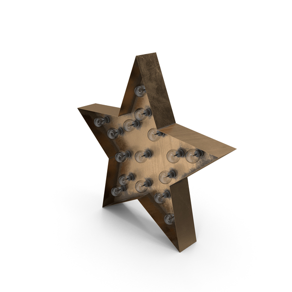 Theater Sign: Star Lighting Bronze Off PNG & PSD Images