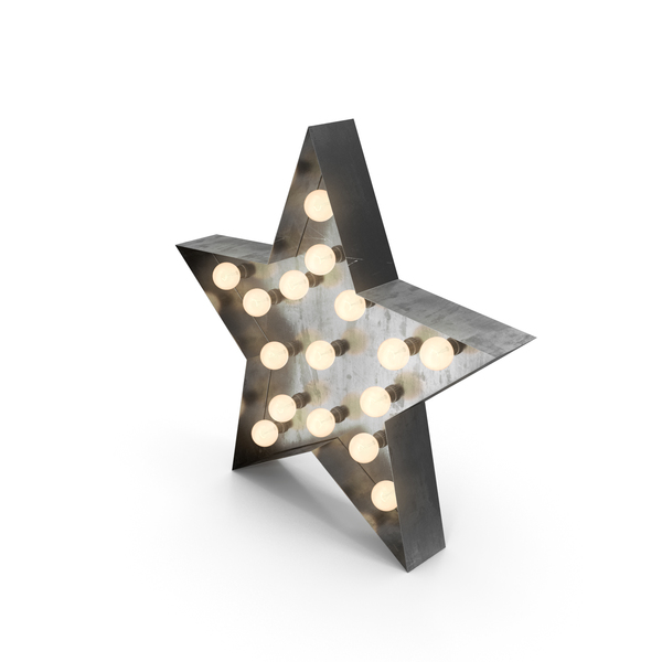Theater Sign: Star Lighting On PNG & PSD Images