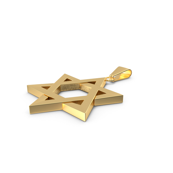 Star of David Necklace Gold PNG & PSD Images