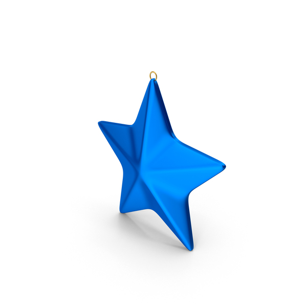 Star Ornament Blue PNG & PSD Images