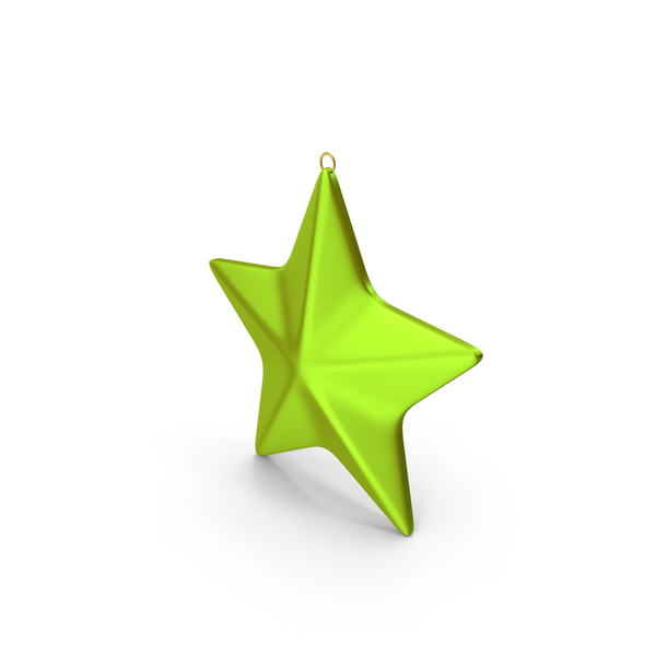 Star Ornament Green Gold PNG & PSD Images