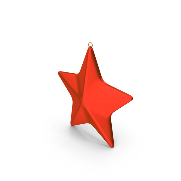 Star Ornament Red PNG & PSD Images
