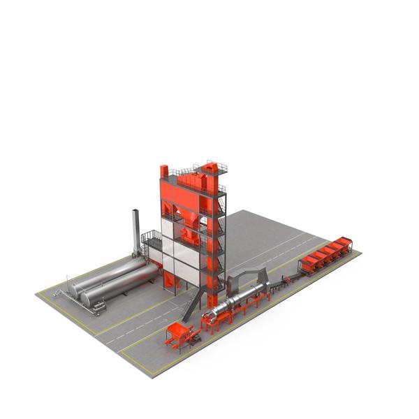 Portable Concrete Mixer: Stationary Asphalt Mixing Plant PNG & PSD Images