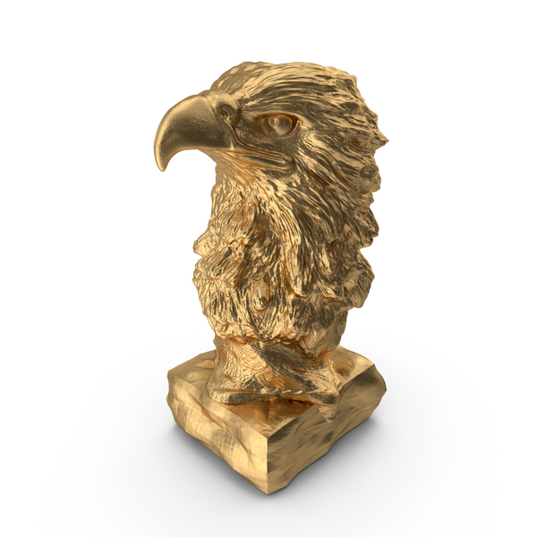 Bust: Statuette Gold Eagle PNG & PSD Images