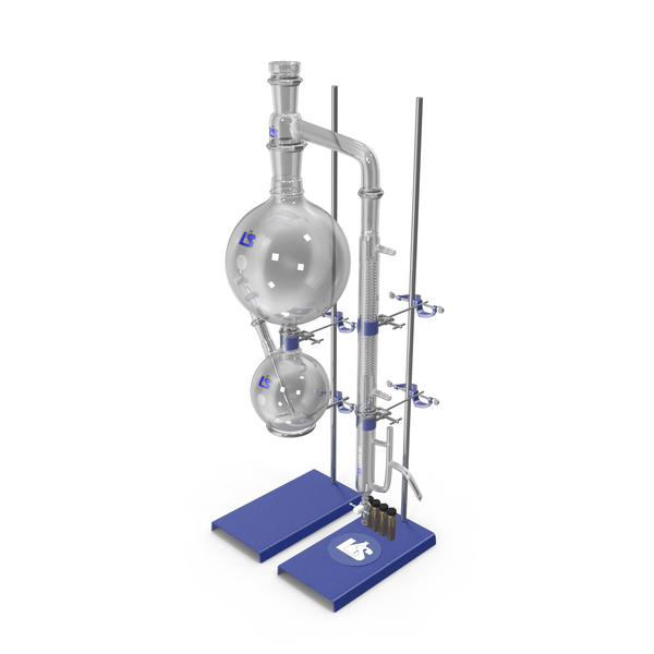 Lab Flask: Steam Distillation Laboratory Kit PNG & PSD Images