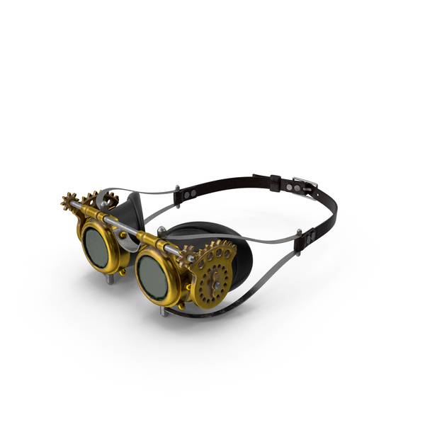 Goggles: Steampunk Glasses PNG & PSD Images