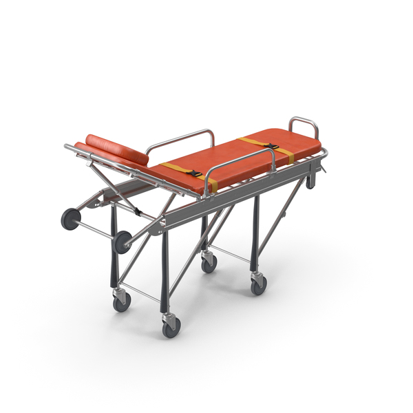 Steel Ambulance Stretcher Hospital Bed Gurney PNG & PSD Images