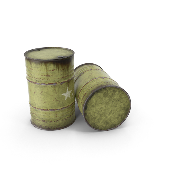 Steel Army Barrels PNG & PSD Images