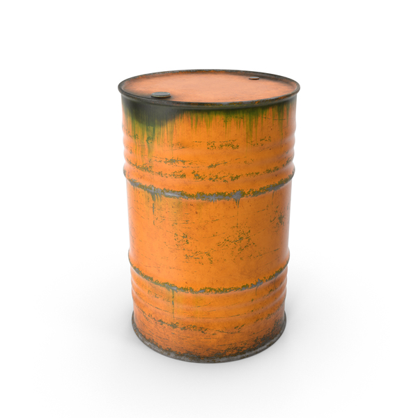 Steel Barrel Orange PNG & PSD Images