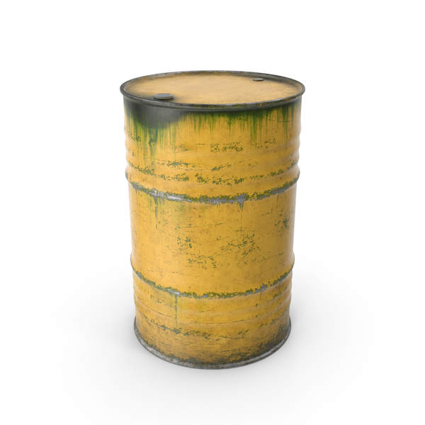 Steel Barrel Yellow PNG & PSD Images