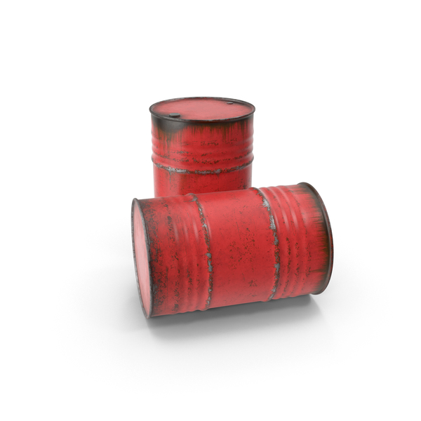 Steel Barrels Red PNG & PSD Images