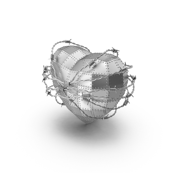 Steel Heart in Barbed Wire PNG & PSD Images