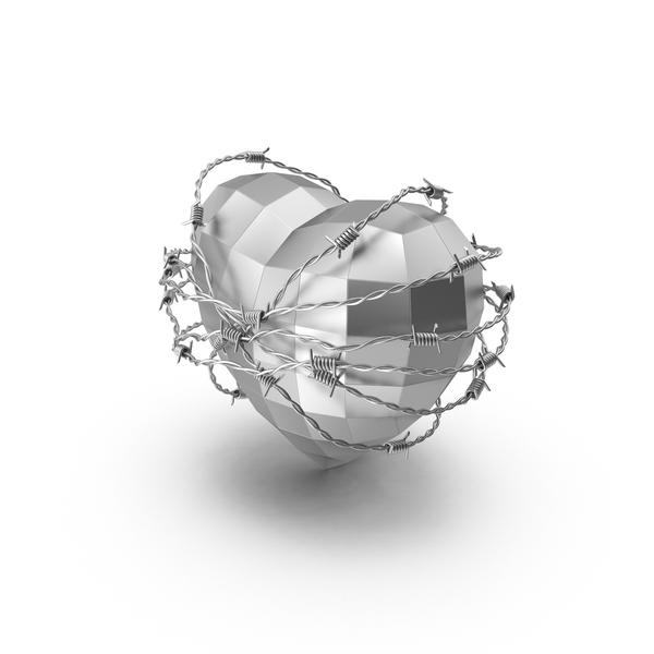 Shape: Steel Heart in Barbed Wire PNG & PSD Images