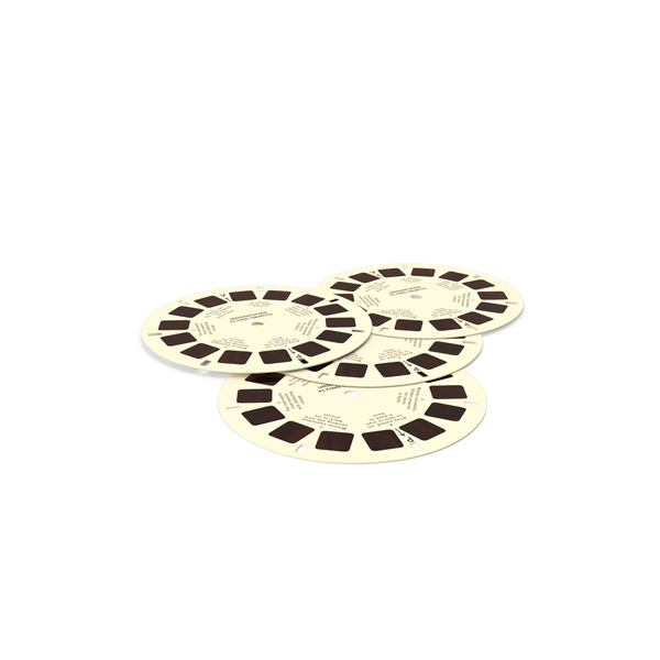 Stereoscope Cardboard Discs PNG & PSD Images