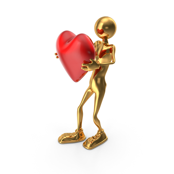 StickMan Carrying Heart PNG & PSD Images
