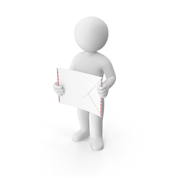 Stickman Holding Letter PNG & PSD Images