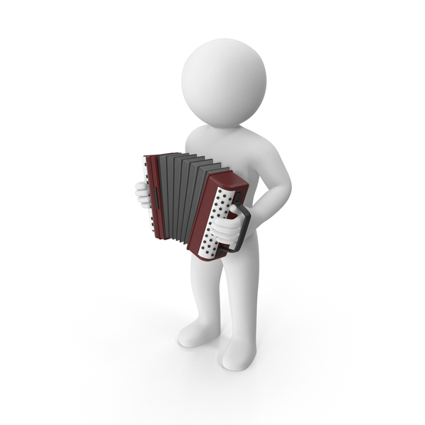 Stickman Playing Accordion PNG & PSD Images