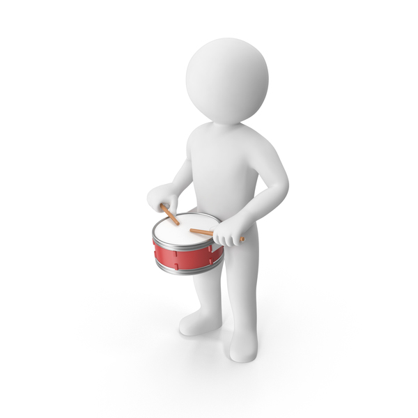 Stickman Playing Drum PNG & PSD Images