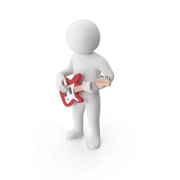 Stickman Playing Guitar PNG & PSD Images